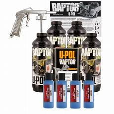 u pol raptor tintable reflex blue bed liner kit w spray