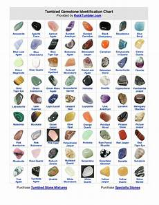 Cathedral Stone Color Chart Tumbled Gemstone Identification Chart Converted From