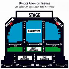 Brooks Atkinson Theatre Seating Chart Waitress Broadway Premium Tickets