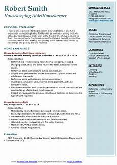 Housekeeping Aide Resume Housekeeping Aide Resume Samples Qwikresume