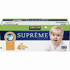 Kirkland Diaper Size Chart Kirkland Signature Supreme Diapers Size 4 180ct