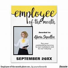 Employee Of The Month Rewards Employee Of The Month Photo Award Certificate Zazzle Com