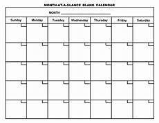 Blank Fillable Calendar Printable Blank Calendar Template Organizing Print