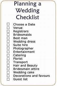 Checklist For Wedding Planning Basic Wedding Checklist Printable Wedding Checklist In