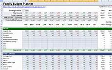 Family Budget Templates 6 Family Budget Planners Word Excel Templates
