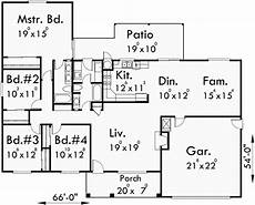 4 Bedroom Ranch House Plans One Story House Plans Ranch House Plans 4 Bedroom House