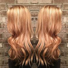Light Brown Hair With Strawberry Highlights Strawberry Golden By Misty Callaway At Cheveux