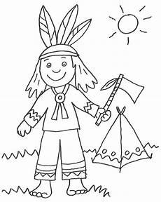 ausmalbilder indianer coloringpages321 easy drawings