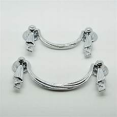 80mm chrome plated zinc alloy 35g white drawer handles