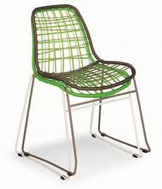 sedie intrecciate sedia in metallo e plastica ideale per ambienti esterni