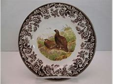 Spode Woodland Salad Plate Red Grouse brown Dinnerware   eBay