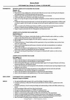 Facilities Manager Resume New Facility Manager Resume Sample Assistant Facilities