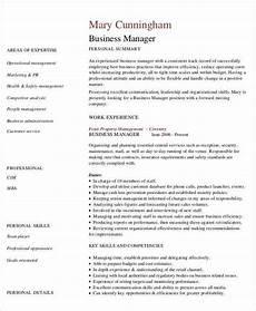 Business Management Cv Business Curriculum Vitae Template 8 Free Word Pdf