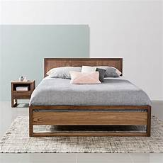 bruno size bed frame solid walnut 213x162cm