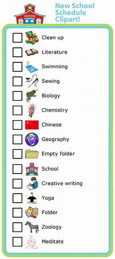 Make Your Own School Schedule Make Your Own List Mobile Or Printed School Schedule