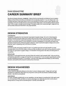 How To Write A Career Summary Des Sem S11 Sam Career Summary Brief