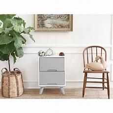 mobili 174 bedside table nightstand 2drawer wood
