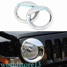 Gas Cap Light On Jeep Patriot Chrome Front Headlight Bezels Cover Angry Bird Style For