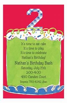 Second Birthday Party Invitations Boy Second Birthday Invitation