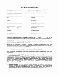 Commission Agreement 36 Free Commission Agreements Sales Real Estate Contractor