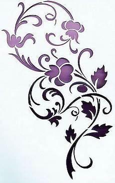 Blumen Malvorlagen Xl Wandschablonen Vorlage Wandtattoo Ornament Blumen Xl