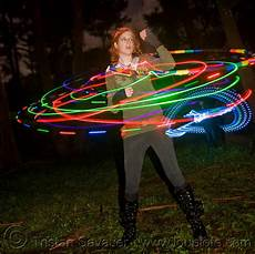Hula Hoop Girl Lights Girl Spinning A Hula Hoop With Photon Led Lights