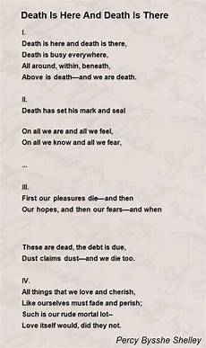 Death Is Here And Death Is There Poem By Percy Bysshe