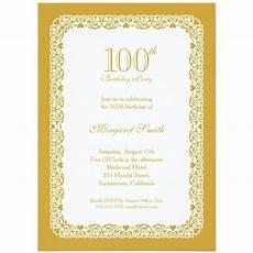 100th Birthday Invitation Elegant Lace 100th Birthday Party Invitations Choose