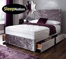 crush velvet divan bed set mattress bed set deal