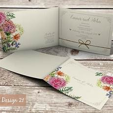 Folded Photo Wedding Invitations Personalised Folded Wedding Evening Or Day Invitations