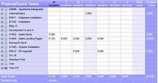 Standard Time Sheet No Stress Employee Timesheet