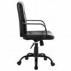 Warmiehomy Office Chair Swivel Faux Leather Armchair Height Adjustable by Faux Leather Height Adjustable Swivel Office Chair