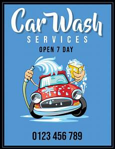 Car Wash Pictures For Flyer Copy Of Car Wash Flyer Postermywall