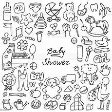 doodle baby shower stock illustration image now
