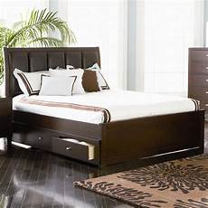 coaster 201511kw brown california king size leather bed