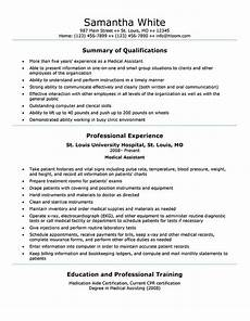 Sample Medical Resume 16 Free Medical Assistant Resume Templates