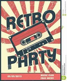 retro plakat retro poster design with vintage style stock