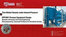 Process Equipment Design Thin Walled Vessels Under