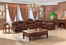 Luxury Sofa Sets For Living Room 3d Image by European Leather Sofa Set Living Room Sofa China Wooden