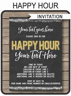 Happy Hour Invite Wording Chalkboard Happy Hour Invitation Template Printable