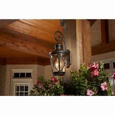 Garden Lights Lowes Allen Roth Castine 20 3 8 In H Rubbed Bronze Outdoor