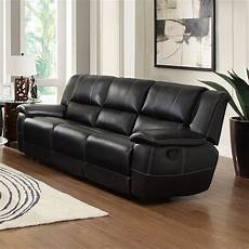 Sofa Arm Coaster 3d Image by Coaster Faux Leather Reclining Sofa With Pillow Arms