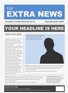 Newspaper Outline For Word Free Newspaper Template Pack For Word Perfect For School