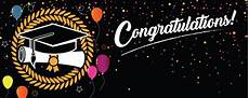 Congratulations Graduate Banner Congratulations Graduation Black With Coloured Balloons
