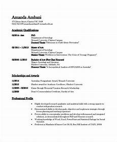 How A Resume Looks Like Excellent Academic Resume Template To Get Job