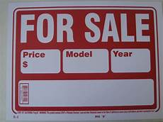 For Sale Sign For Car Car For Sale Sign Vehicle For Sale Year Model Plastic Sign