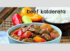 Beef Caldereta (Kaldereta sa Gata)   Beef Chunks Stewed in