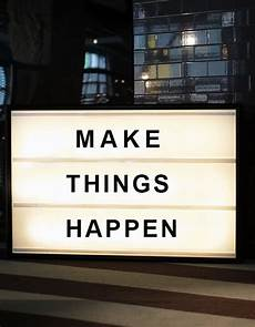 Cinema Light Box Sayings Make Things Happen Bxxlght Lightbox With Changeable