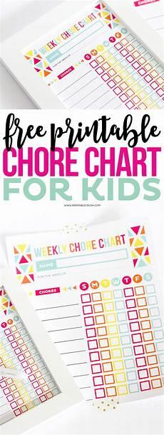Chore Chart Kits Free Printable Chore Chart For Kids Printable Crush
