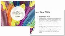 Feather Powerpoint Template Feathers In Colors Recreation Powerpoint Templates